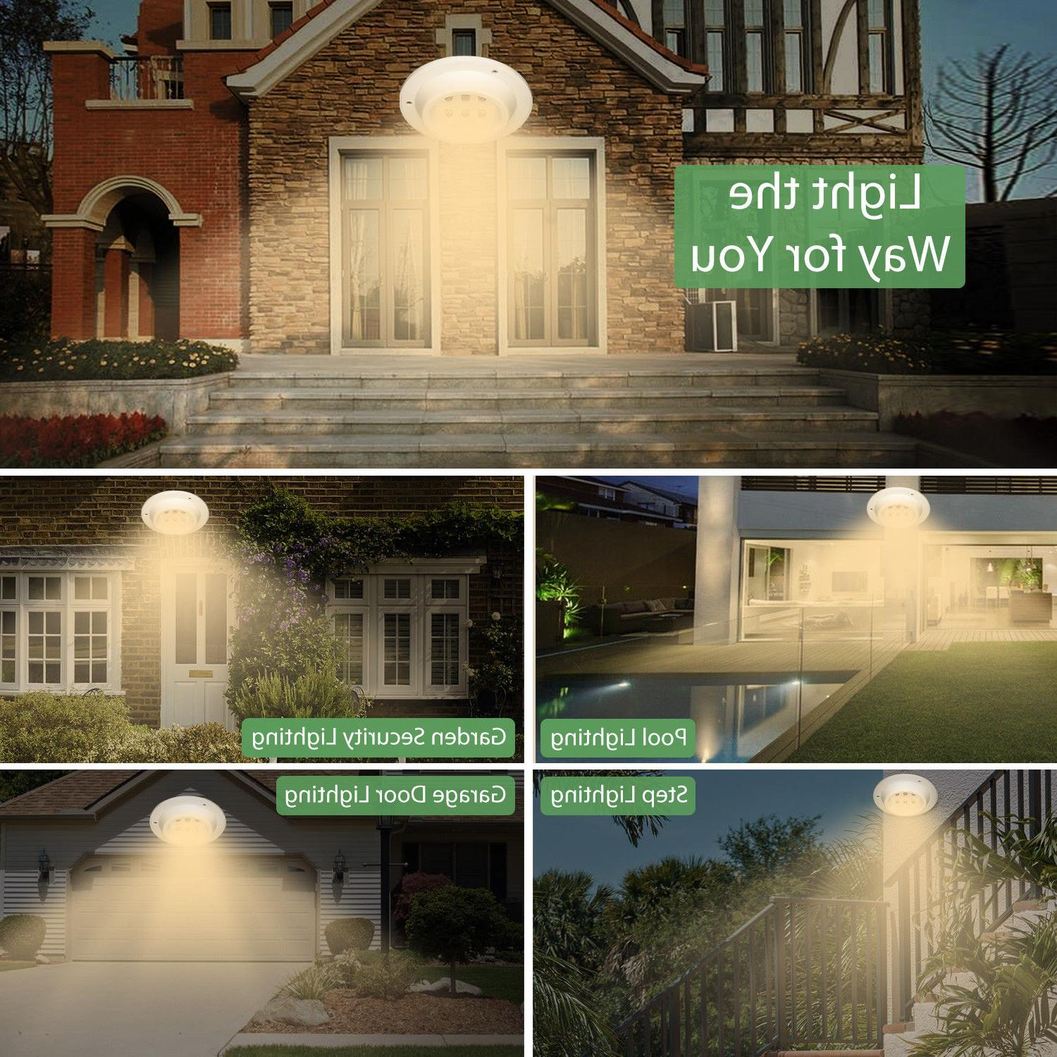 4 Pack Gutter Outdoor Security Lamp