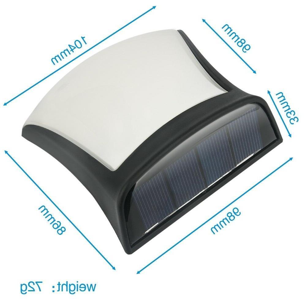 4 Pack LED Gutter Lights Garden Waterproof