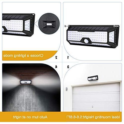 Utech High Bright Solar Lights, Powered Sensor Light Lamp Free Outside Doors,Garden,Pathway,Garage,Step Light