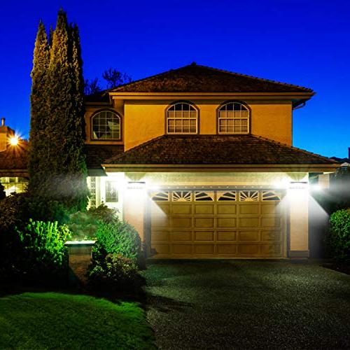 Utech Lights, Solar Powered Sensor Light Lamp Free Wall Lights for Outside Backyard Light