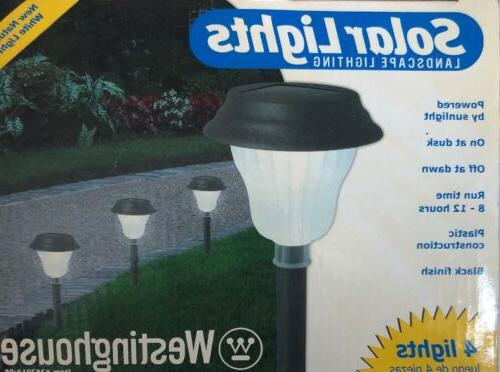 4 solar path lights waterproof glass 4