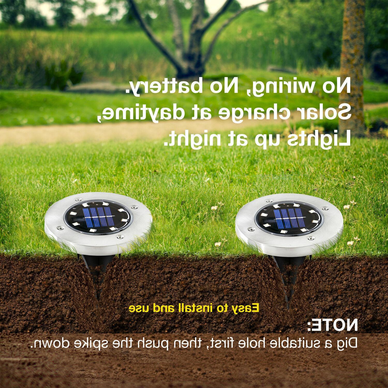 4 Solar Lights, Garden Outdoor Lights 8 LED