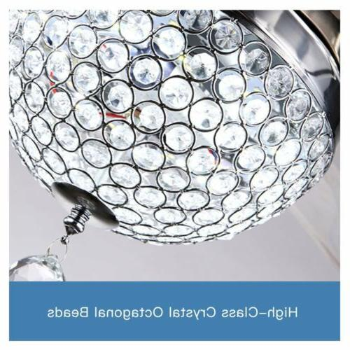 """44"""" Invisible Crystal Fan Light Room Stock"""