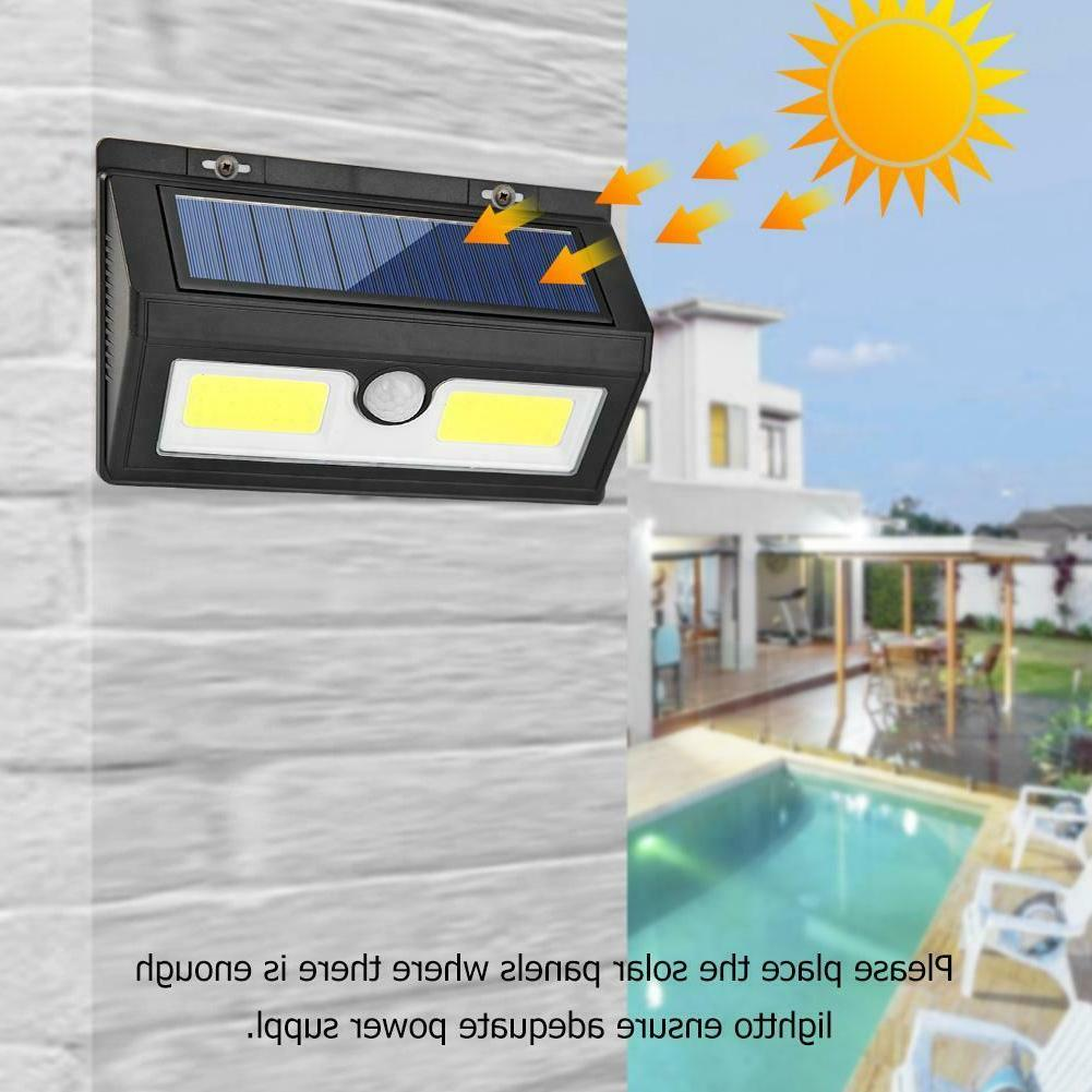 48/55/64LED Solar Sensor Wall Waterproof Yard Outdoor Lamp