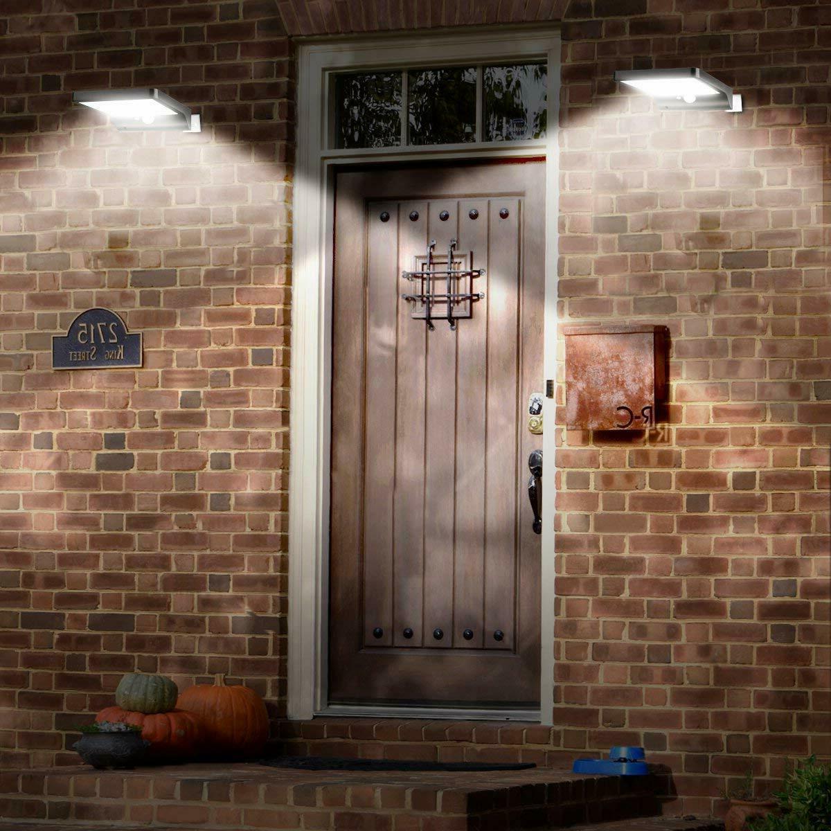 48 LED Outdoor Gutter Wall Solar Motion Sensor Light Remote