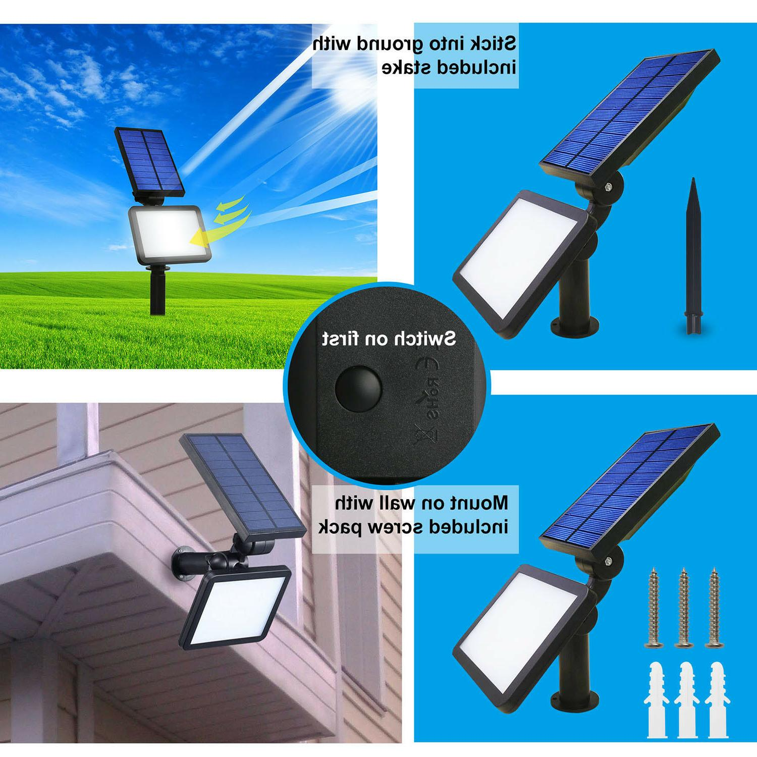 48 LED Solar Powered Flood Light Outdoor Yard Lawn Lamp