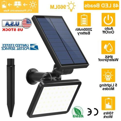 48 led waterproof solar powered flood light