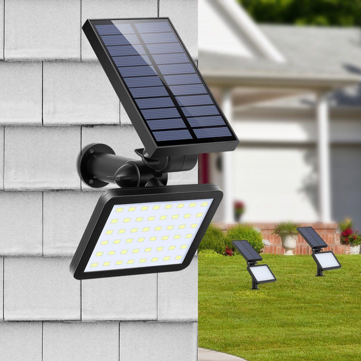 48LED Power Spotlight Garden Lawn Lamp Lights Waterproof