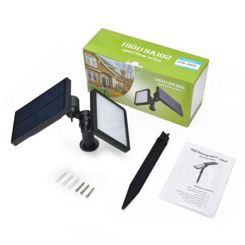 48LED Power Garden Lamp Lights Outdoor Waterproof