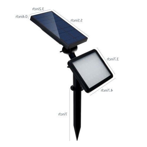 48LED Power Spotlight Garden Lawn Lights Waterproof