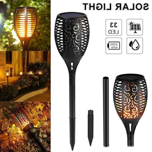 4Pack LED Solar Torch Dancing Flickering Flame
