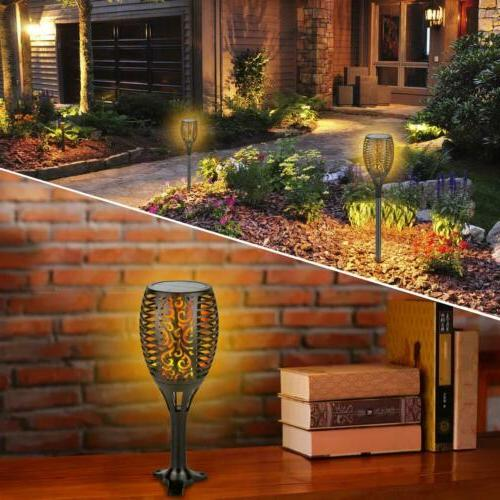 4Pack Auto LED Solar Tiki Dancing Flame