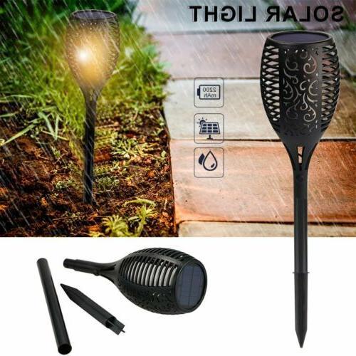 LED Solar Torch Flickering Dancing Waterproof Yard