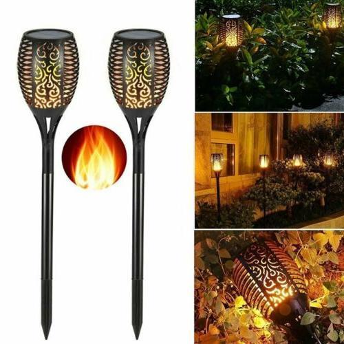 LED Flickering Garden Waterproof Lamp US