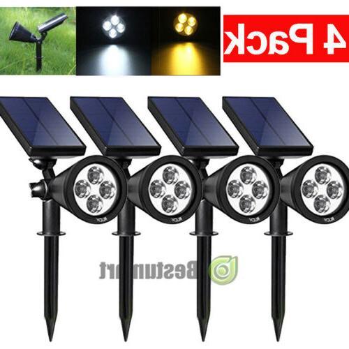 4Pack Solar Lights Waterproof Outdoor Landscape Lighting Spo