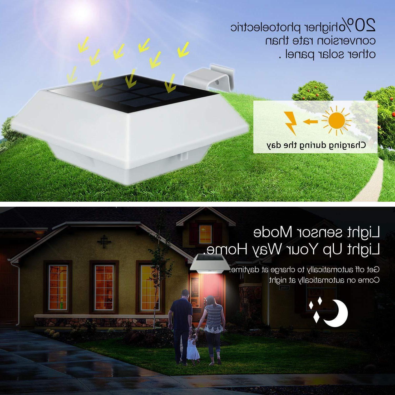 4pcs 12 Post Lights Spotlights Gate Lamp
