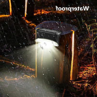 4 Solar LED Deck Lights Patio Lighting