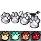 4Pcs Solar Dog Cat Animal Paw Print Lights Garden Outdoor LE