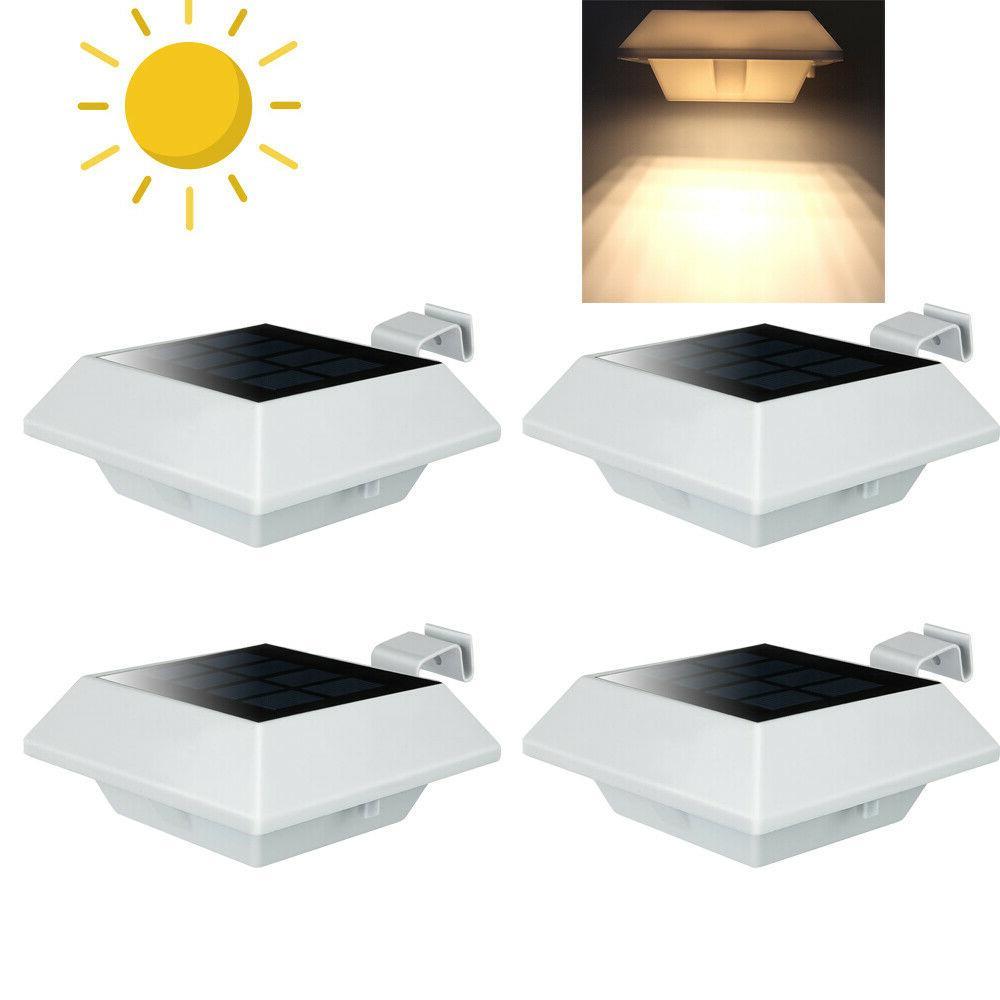 6pcs 12leds solar gutter lights outdoor garden