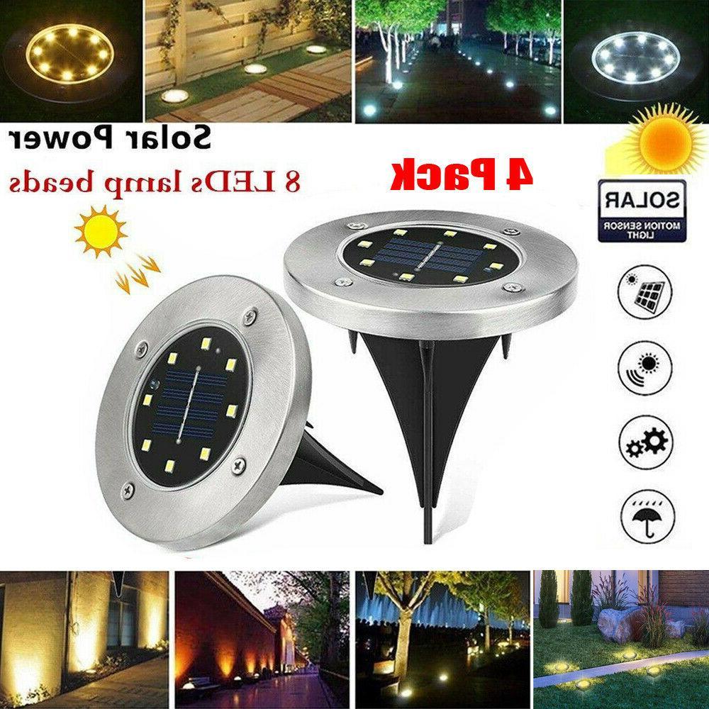 4PCS Lights Outdoor Garden Lawn Lamp