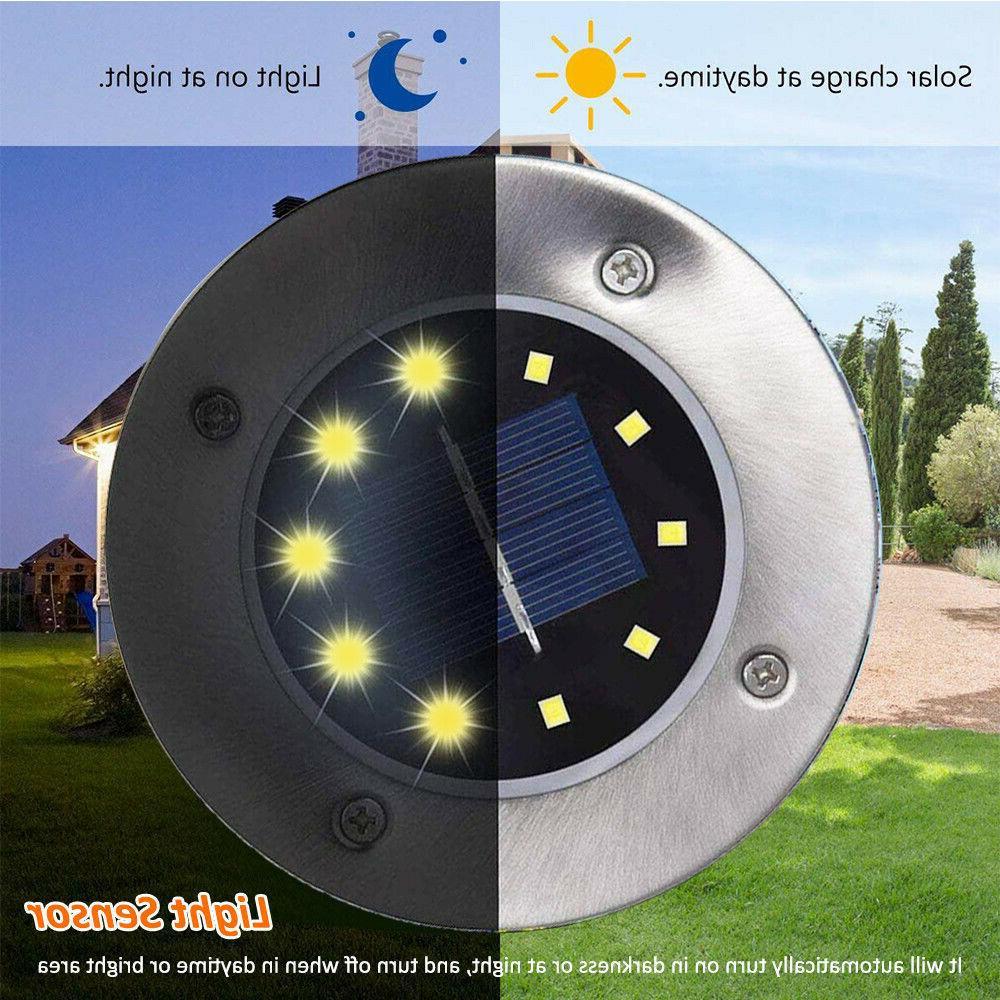 4PCS Solar Power Lights Floor Outdoor Path Lamp