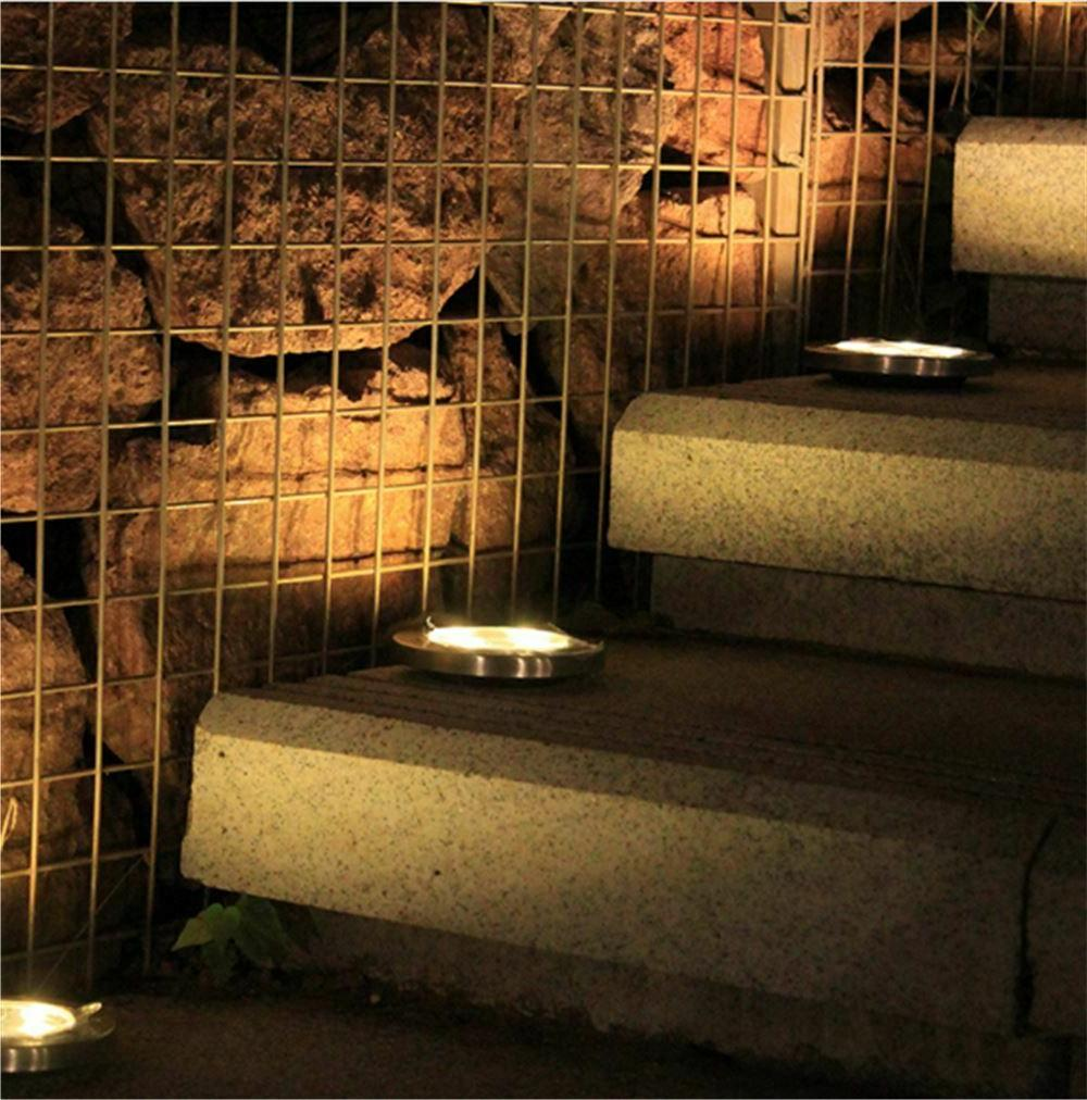 4PCS Solar Lights Floor Outdoor Garden Lamp