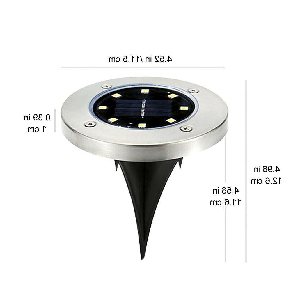 4PCS Solar Ground Outdoor Garden Path Lamp
