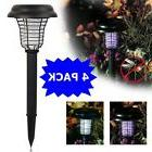 4PK Solar Powered LED Light Pest Bug Zapper Insect Mosquito