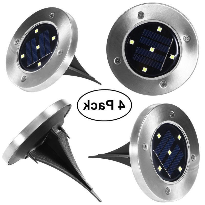 4X 5 LED Buried Solar Power Light Under Ground Lamp Outdoor