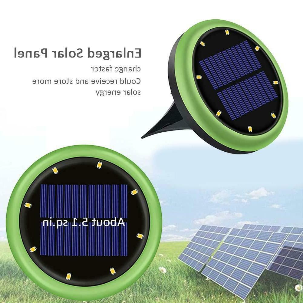 4x 8LED Solar Lights Waterproof