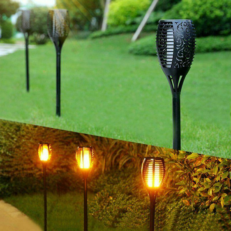 4X LED Outdoor Torch Flame Lamp Light