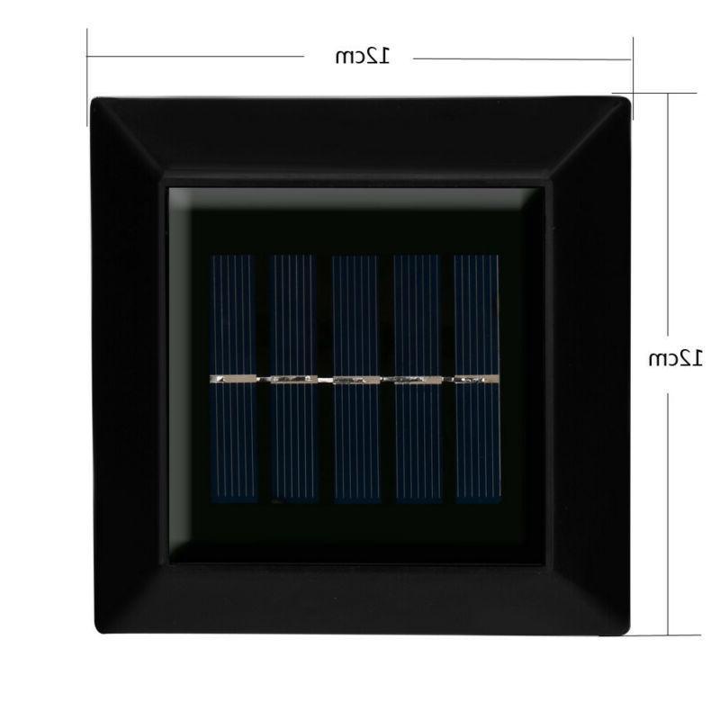4x Solar Powered Light Garden Wall Lights
