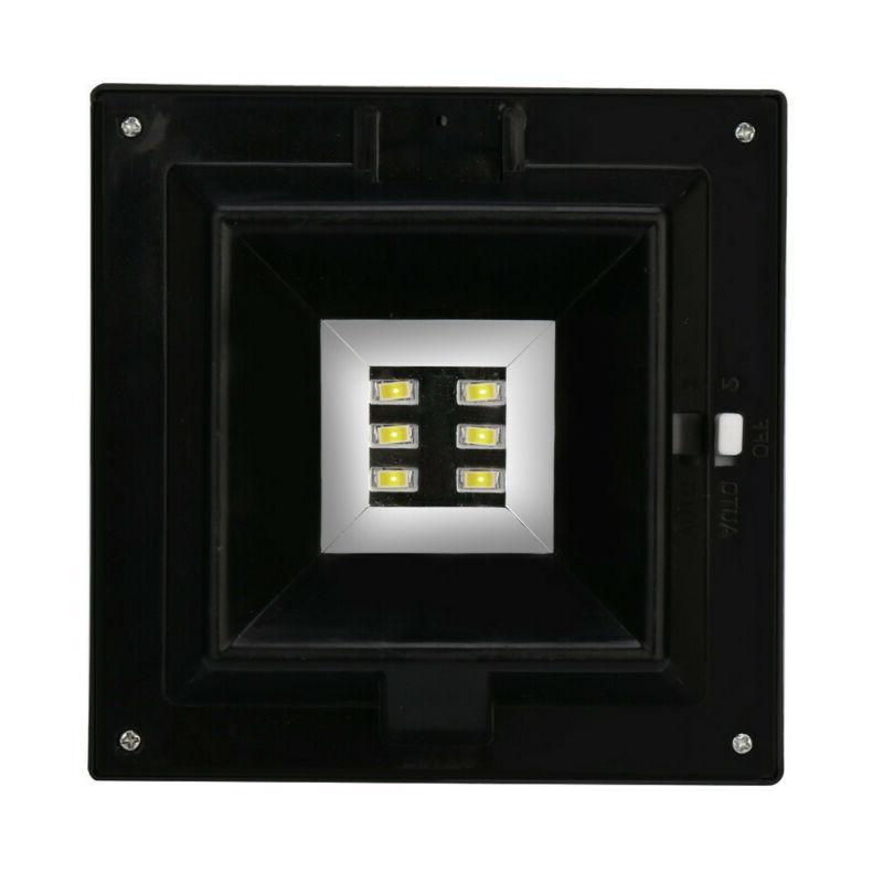 4x LED Light Security Wall Gutter Yard Lights