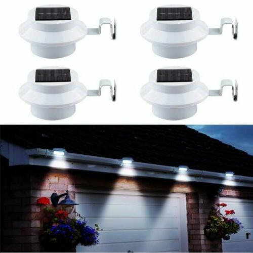 4x led solar powered light outdoor garden