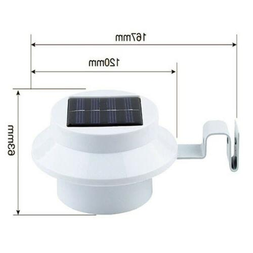 4x Solar Light Wall Gutter Yard Outdoor Security