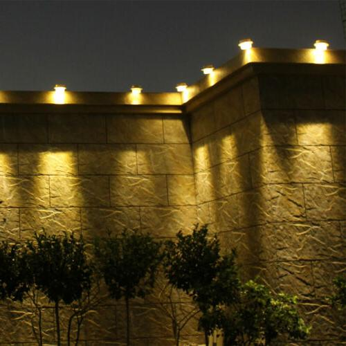 4x LED Solar Light Wall Yard Outdoor Garden Security
