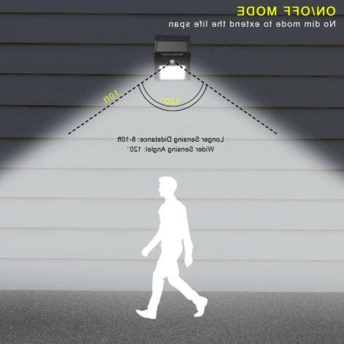 4x Solar Light Motion Garden Yard Path Lamp