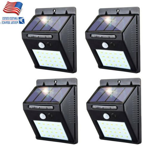4x outdoor 12 led solar light power