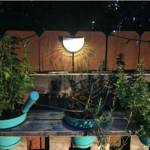 4x Fence 6-LED Lights Garden #