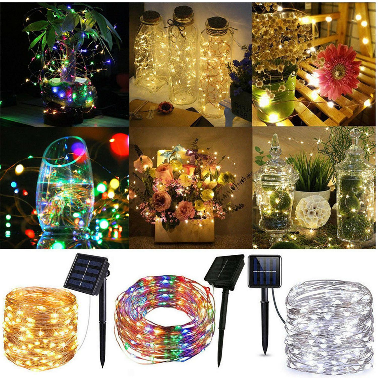 50 200 led solar power fairy lights