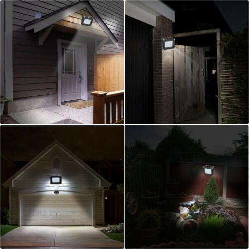 54LED Waterproof Sensor Flood Light Outdoor Garden Lamp