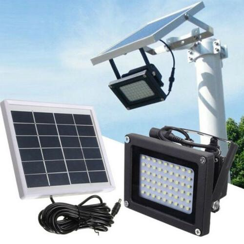 54led waterproof solar powered sensor flood light