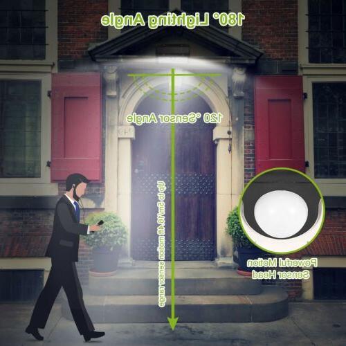 55LED Sensor Wall Light Outdoor Garden Waterproof