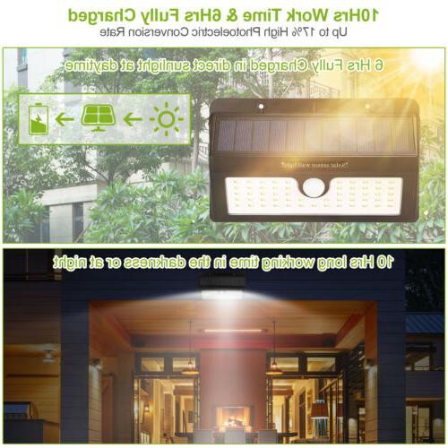 55LED Solar Sensor Wall Light Outdoor Garden