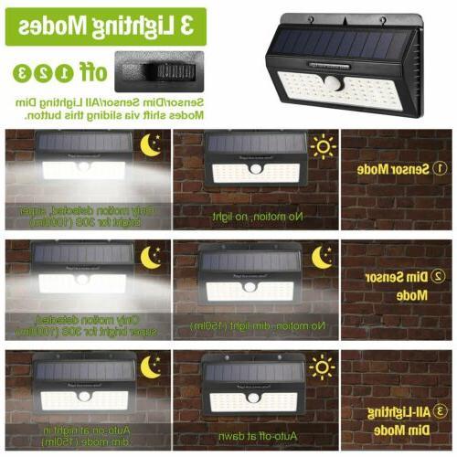 55LED Sensor Wall Garden Lamp Waterproof