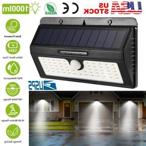 55led solar power motion sensor wall light