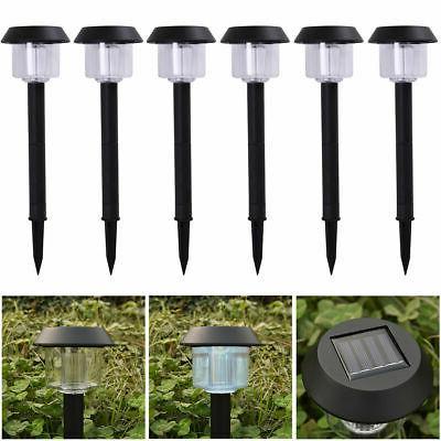 6 led solar power outdoor path light
