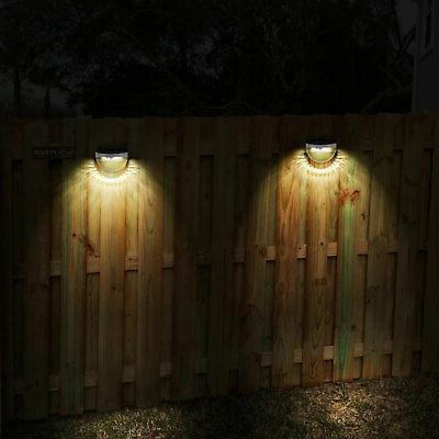 Solar Powered Gutter Fence Garden Lamp
