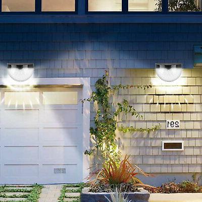 Solar Powered Gutter Fence Garden Path Lamp