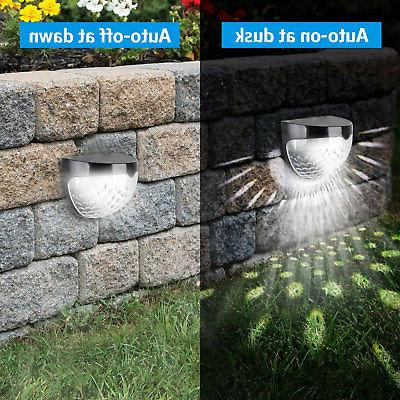 6 LED Solar Gutter Lights Garden Path Lamp